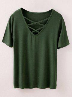 Camiseta Strappy - Ejercito Verde M