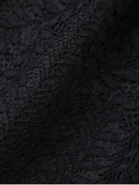 Shorst en dentelle étagés - Noir S Mobile