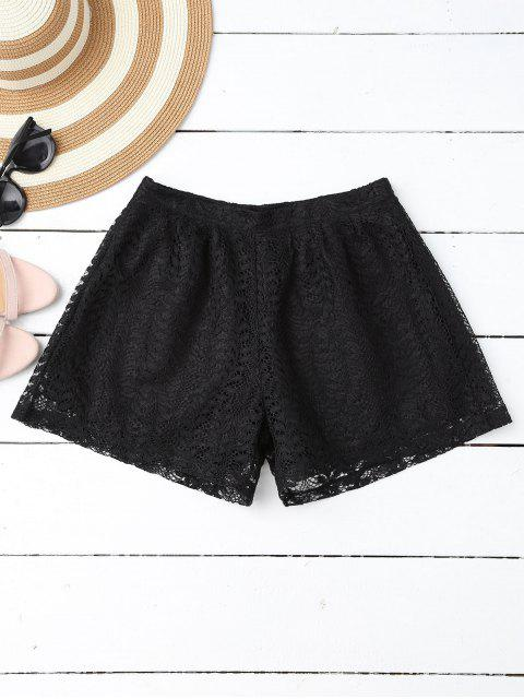 lady Layered Lace Shorts - BLACK L Mobile
