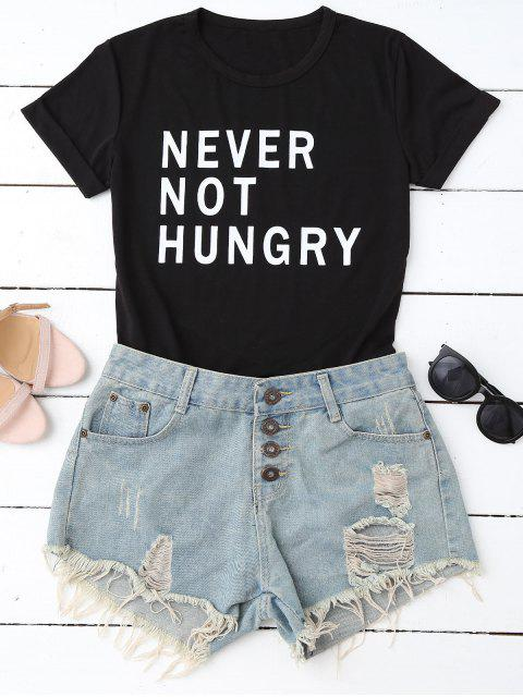 women Funny Graphic T-Shirt - BLACK S Mobile