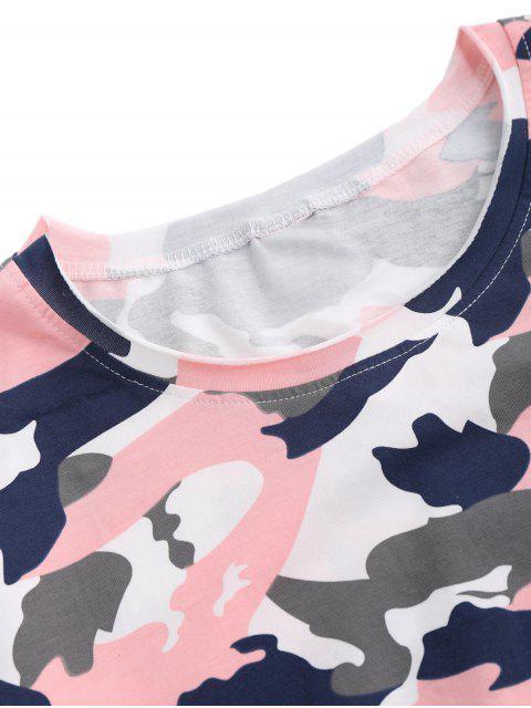 Pentagram Applique Camo T-shirt - ROSE PÂLE L Mobile