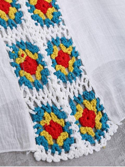 Panneau ouvert avant Crochet Cover-Up - Blanc TAILLE MOYENNE Mobile