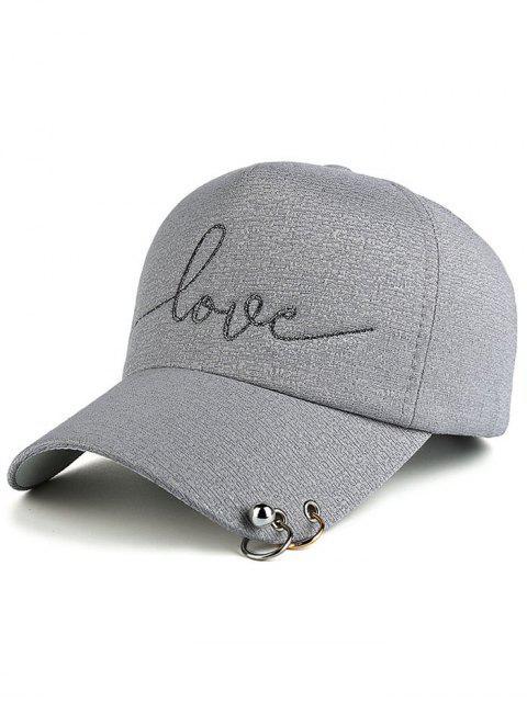 buy Beads Metal Circle Letters Baseball Hat - GRAY  Mobile