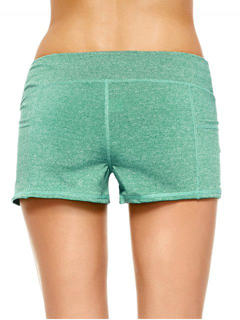 women Heathered Sports Shorts With Pockets -   Mobile