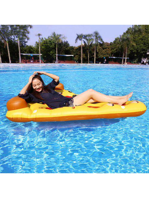 online Pizza Shape Inflatable Swimming Float - MANDARIN  Mobile