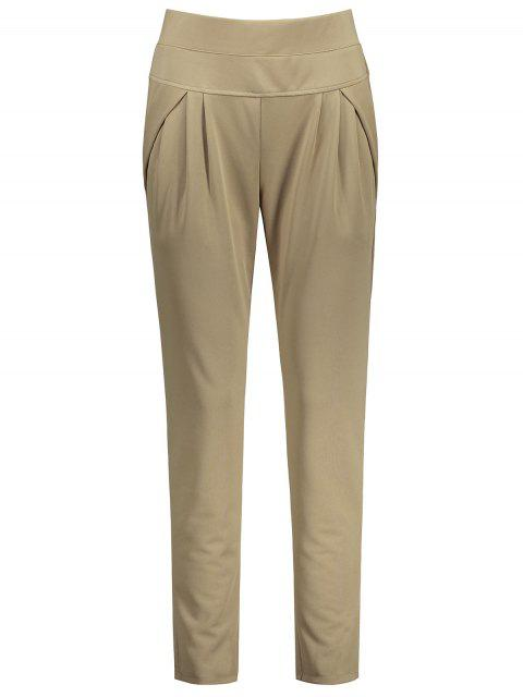 Pantallon à Taille élastique Longueur Cheville Grande Taille - Camel 4XL Mobile