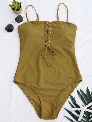 High Cut Lace Up Swimwear - Ginger L