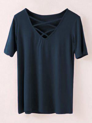 Strappy T-Shirt - Cadetblue S