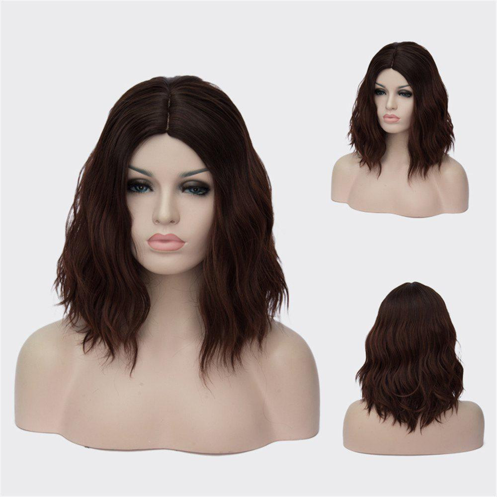 Medium Centre Parting Wavy Synthetic Wig 193955501