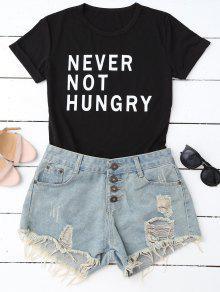 Divertida Camiseta Gráfica - Negro M