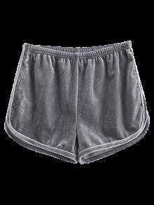 Pantalones Cortos De Terciopelo Deportivo - Gris S
