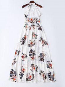 Bohemian Fl Open Back Maxi Dress