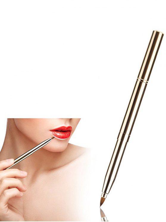 Fibra Lipliner cepillo del cepillo del labio - Dorado