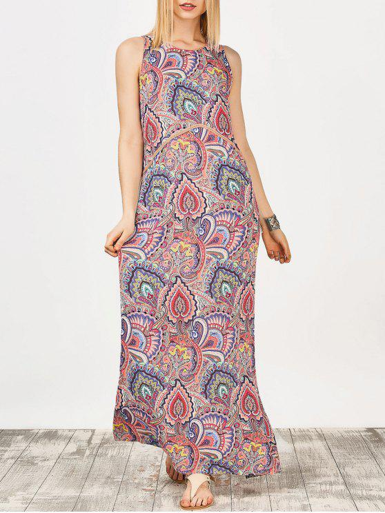 95b24dd705d 30% OFF  2019 Keyhole Paisley Print Maxi Dress In FLORAL