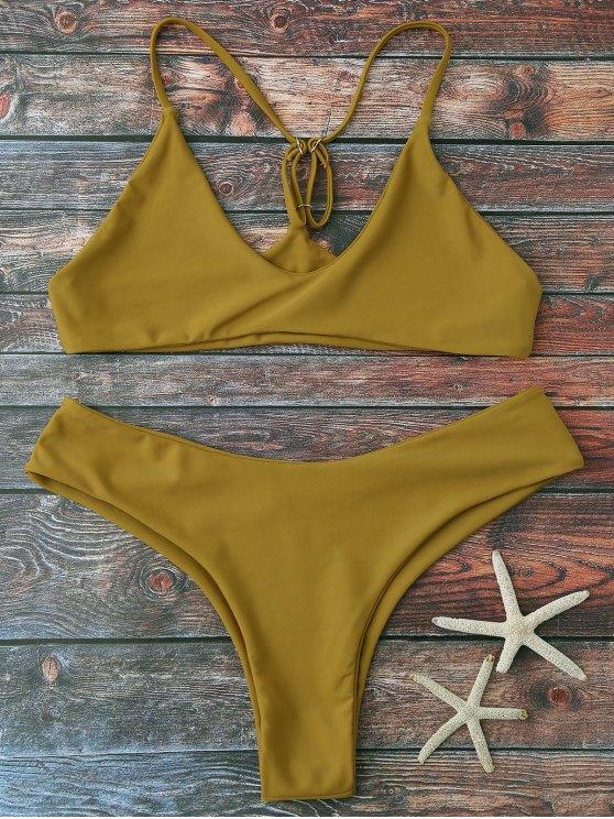 shop Spaghetti Strap Thong Bikini Set - GINGER S