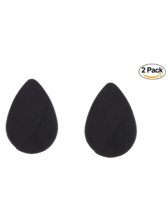 2PCS Irregular Teardrop Shape Beauty Sponges - Black