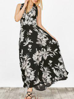 Floral Crossover Maxi Dress - Noir S