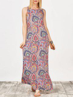 Keyhole Paisley Print Maxi Dress - Floral S