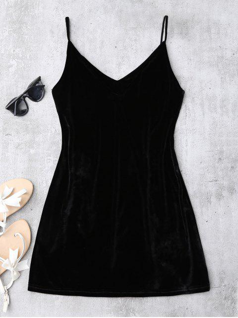 new Embroidered Floral Patch Velvet Sleepwear - BLACK M Mobile