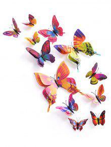 12 قطعة / المجموعة 3d الفراشات بك المغناطيس دي ملصقات الحائط
