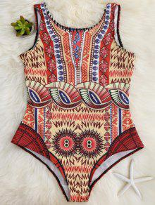 Slimming Scoop One Piece Swimsuit - Yellow L