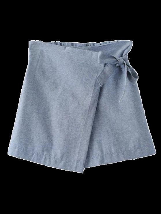 womens Bowknot Culotte Shorts - GRAY M