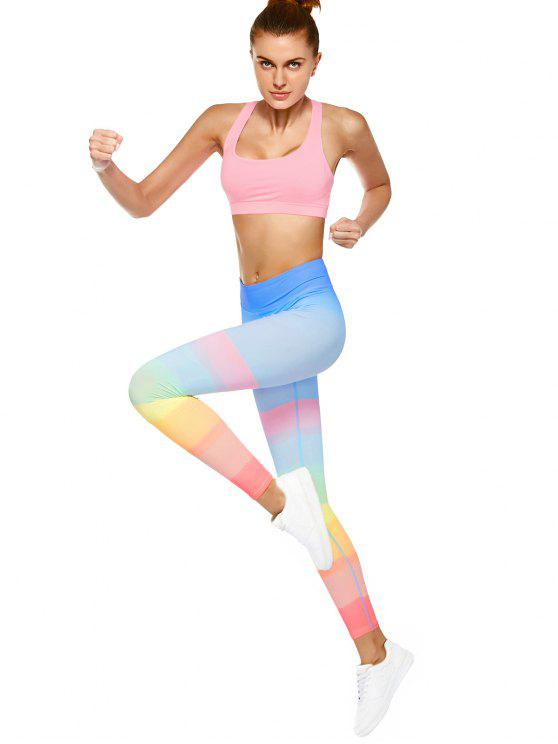 Leggings dança Ombre - Multicor L