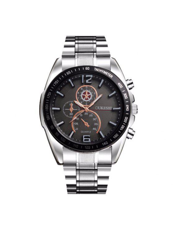 ساعة بشريط خليط معدني OUKESHI - أسود