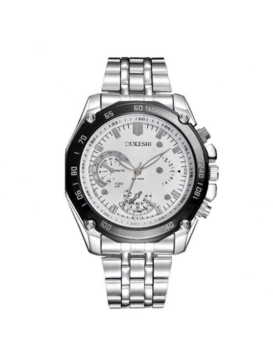 OUKESHI ساعة شريطها فولاذي - أبيض