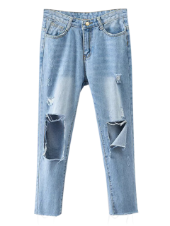 Rippes Tapered Jeans - Denim Blue S