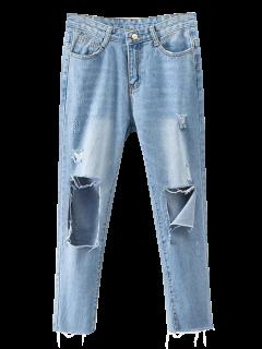 Rippes Cónicos Jeans - Denim Blue S