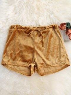 Rebouclage Taille Shorts Velours - Or L