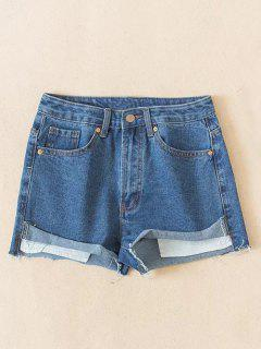 Cutoffs Denim Shorts - Light Blue Xs