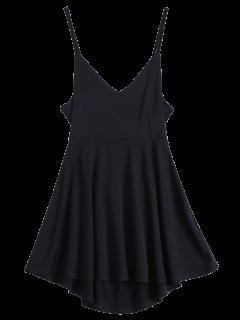 Robe Patineuse Dos Nu à Lacet - Noir Xl