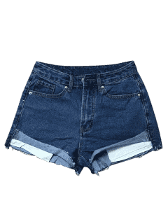 Cutoffs Denim Shorts - Deep Blue S