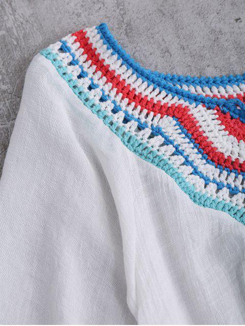 best Crochet Bib Beach Cover-Up For Swimwear - WHITE ONE SIZE Mobile
