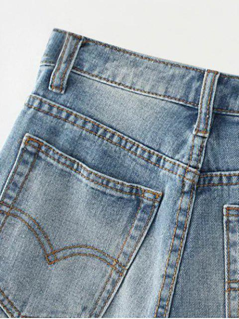 latest Cutoffs Distressed Denim Shorts - DEEP BLUE 27 Mobile