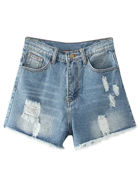 Cutoffs Distressed Denim Shorts - Helles Blau 29 Mobile
