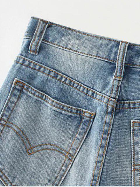 Shorts en denim déchiré - Bleu clair 27 Mobile