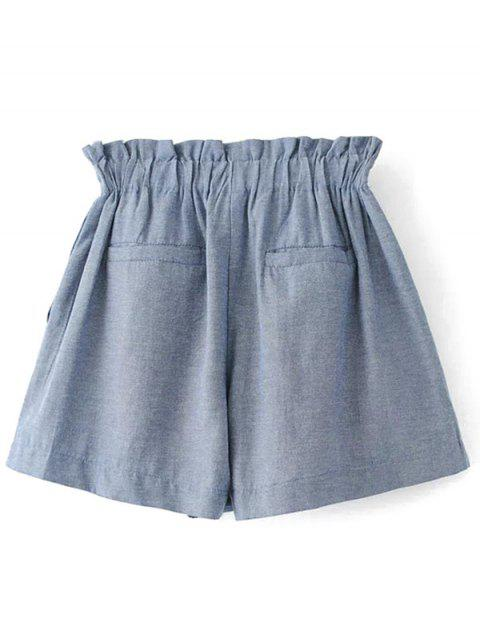 women Bowknot Culotte Shorts - GRAY S Mobile