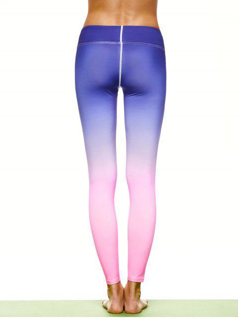 affordable Ombre Stirrup Yoga Leggings - GRADUAL PINK L Mobile