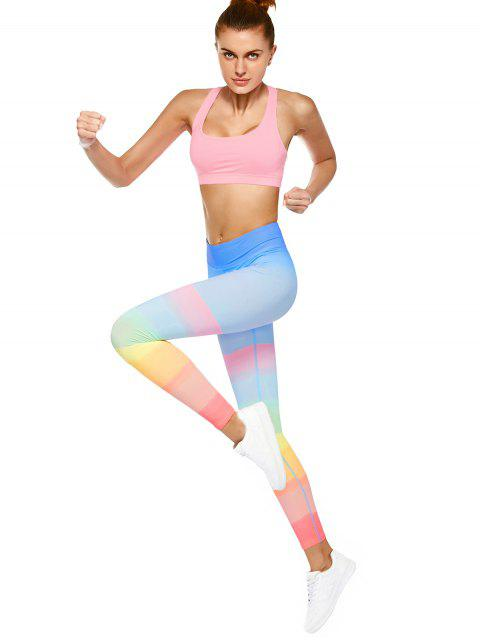 Leggings multicolores pour la danse et le yoga - Multicouleur L Mobile