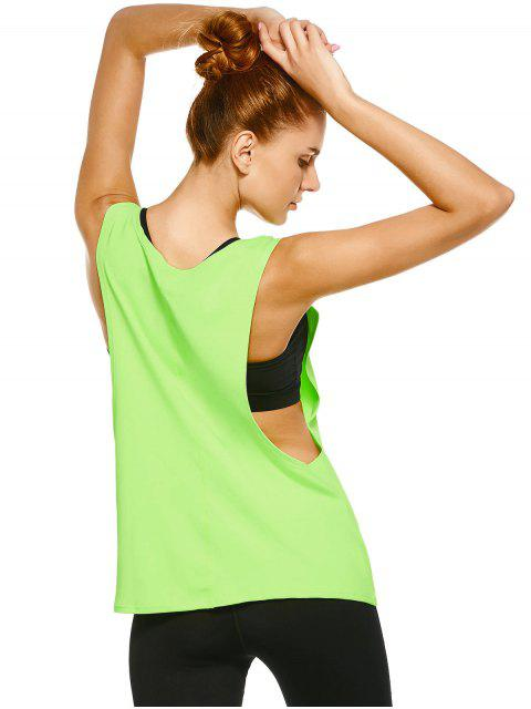 chic Yoga Dropped Armhole Sports Tank Top -   Mobile