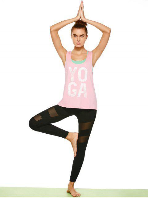 Yoga Dropped Armloch Sport Tank Top - Rosa L Mobile