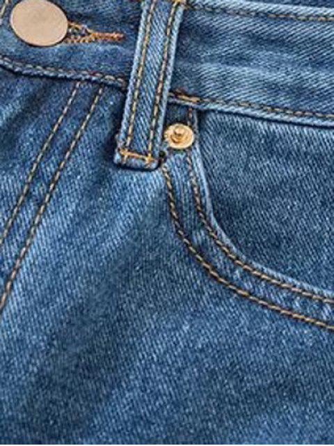 women Cutoffs Denim Shorts - DEEP BLUE XS Mobile