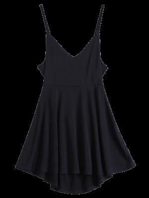 Robe Patineuse Dos Nu à Lacet - Noir M