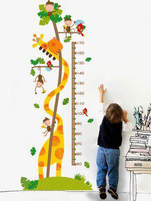 Cartoon Giraffe Height Chart Children Room Cartoon Wall Sticker
