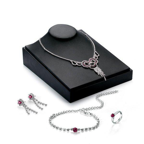 Strass évider Set bijoux