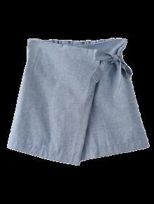 Bowknot Culotte Shorts - Gray L