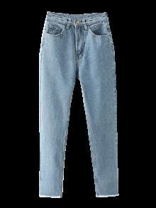 جينز المستدق مهترئ الحاشية - الضوء الأزرق S